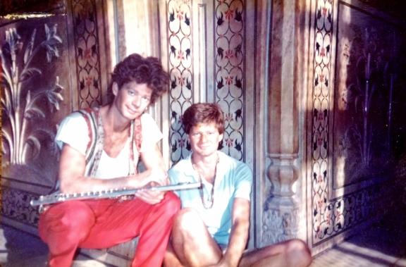 Matt and Robin in India