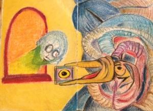 Acid blotter drawing